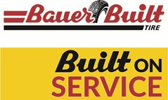 Bauer Built Tire Logo