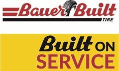 Bauer Built Tire Logo